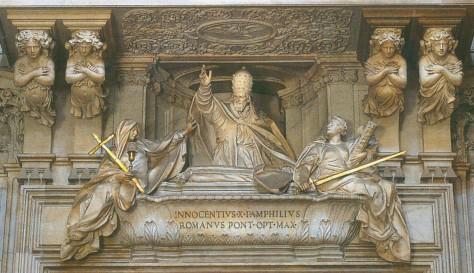 Grabmal von Innozenz X. in Sant'Agnese in Agone