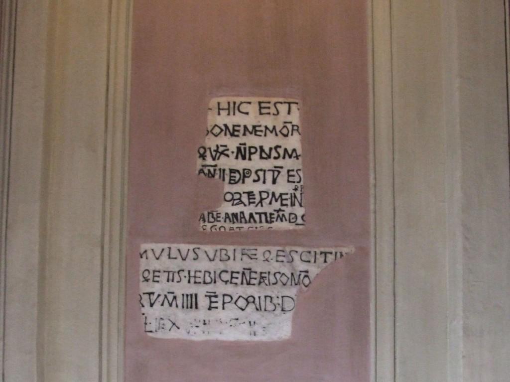Grabinschrift in der Friesenkirche