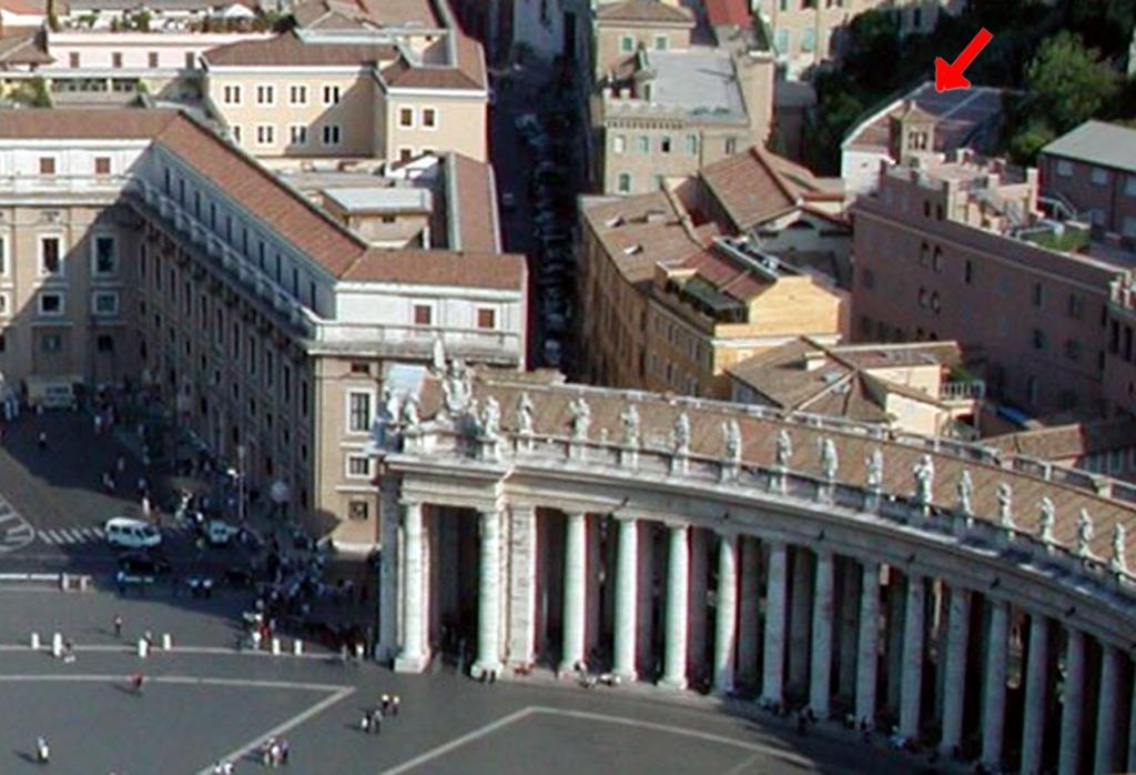 Die lage der Friesenkirche neben dem Petersplatz