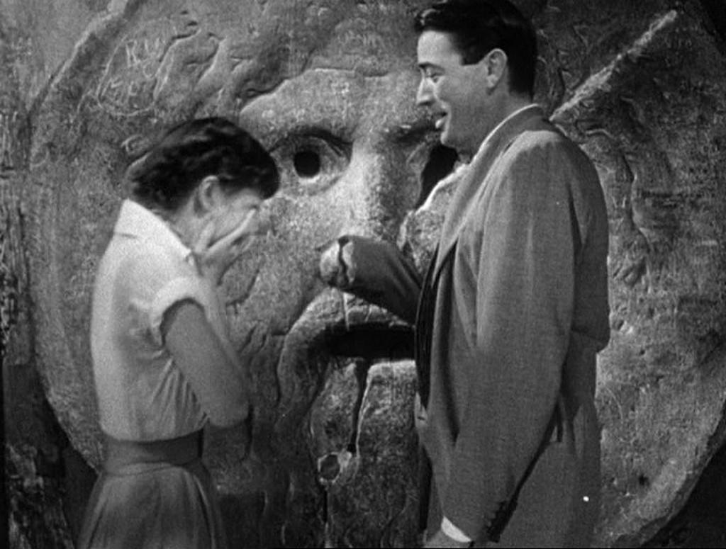 Audrey Hepburn und Gregory Peck am Wahrheitsmund