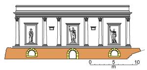 Rekonstruktion der Fassade, Filippo Coarelli