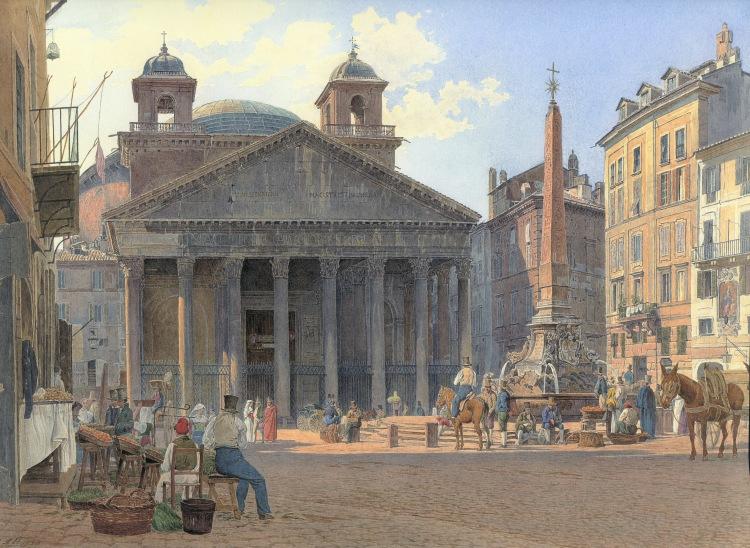 Jakob Alt, Pantheon, 1836
