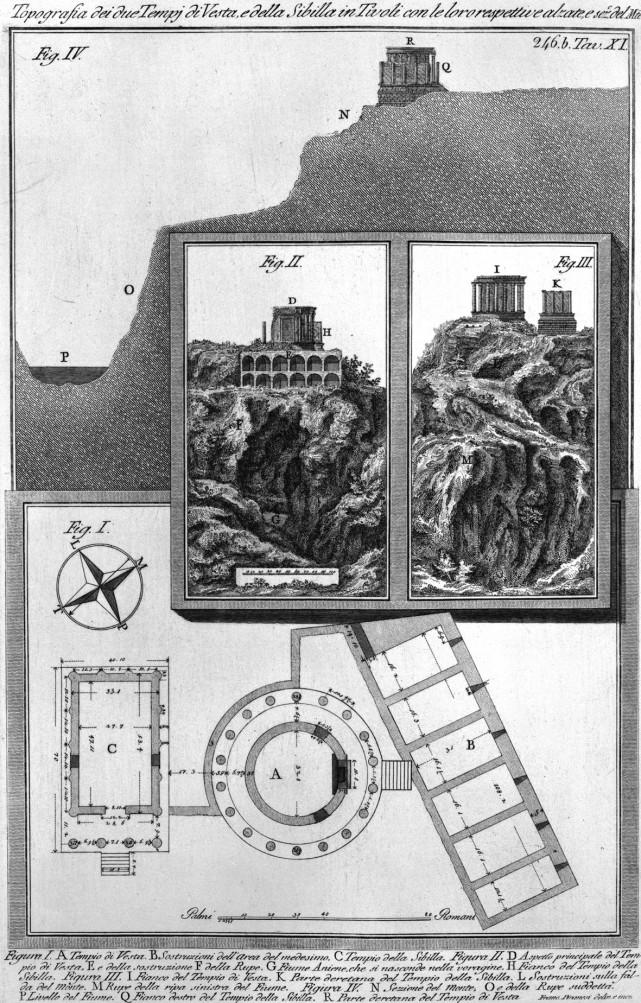 Rekonstruktion der Tempel, Piranesi, ca. 1780
